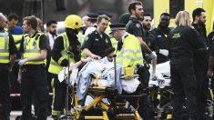 Una mujer herida en los atentados en Londres. (Foto: Getty)