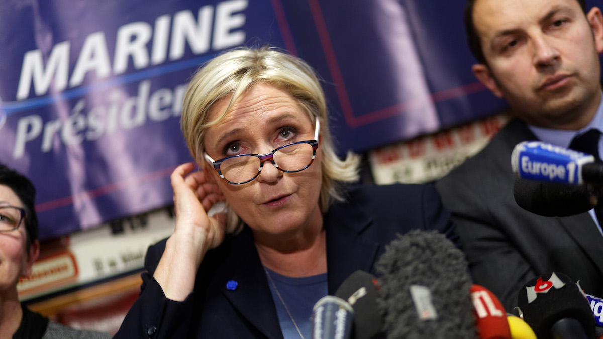La líder del Frente Nacional de Francia, Marine Le Pen. (Foto: Getty images)