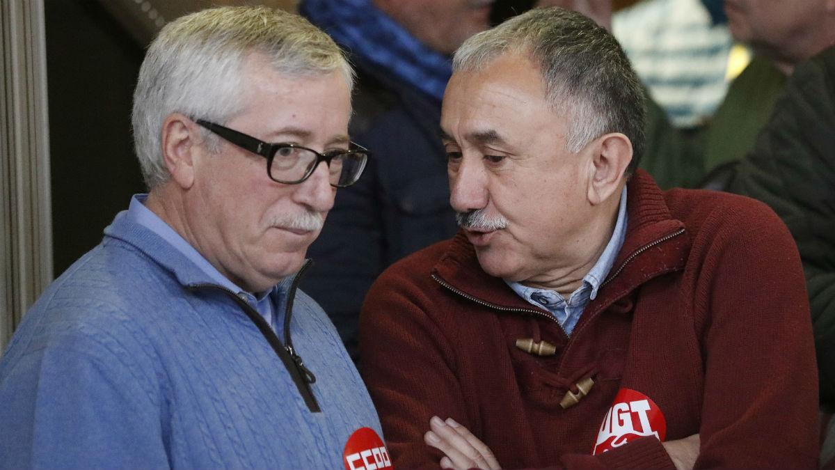 Los líderes de UGT y CCOO, Pepe Álvarez e Ignacio Fernández Toxo (Foto: EFE).