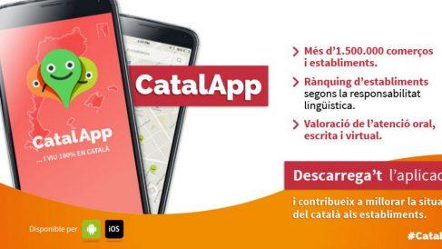 Así promociona la Plataforma per la Llengua su aplicación CatalApp.