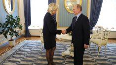 Vladimir Putin y Marine Le Pen. (Foto: AFP)