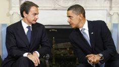 José Luis Rodríguez Zapatero y Barack Obama, en un encuentro en el despacho oval.