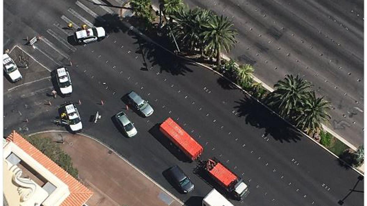 El atacante atrincherado en un autobús de Las Vegas