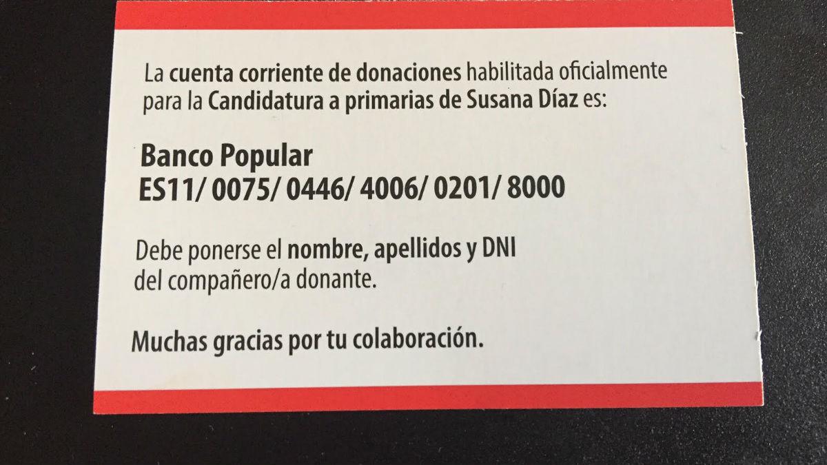 Cuenta para apoyar a Susana Díaz. (Foto: OKD)
