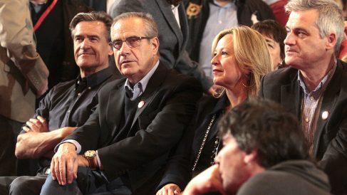 Juan Fernando López Aguilar, Celestino Corbarcho, Trinidad Jiménez y David Lucas asisten en apoyo de la candidatura de Susana Díaz. (Foto: Francisco Toledo / OKDIARIO)