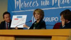 Esperanza Aguirre en rueda de prensa. (Foto: OKDIARIO)