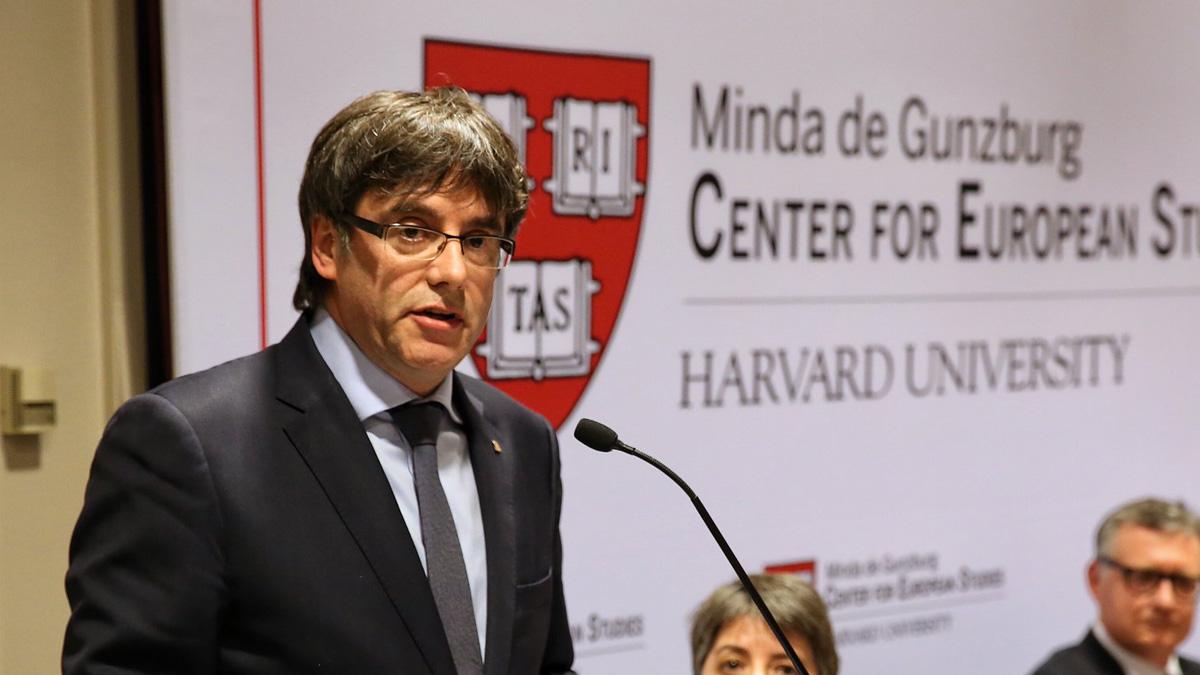 Carles Puigdemont en Harvard.