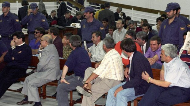 """Macro-juicio de la """"Operación Nécora"""" en 1994."""