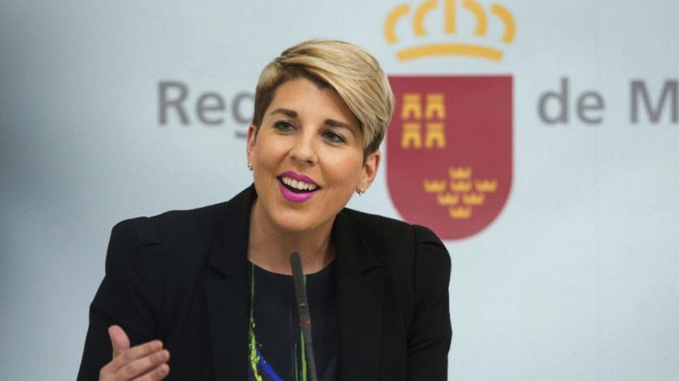 Noelia Arroyo, portavoz del Gobierno de Murcia. (Foto: EFE)