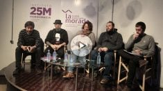 Debate sobre libertad de expresión, organizado por Podemos, este lunes.