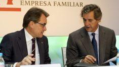 El presidente de Acciona, José Manuel Entrecanales y el ex presidente de la Generalitat, Artur Mas. (Foto: EFE)