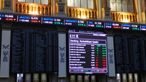 Interior de la Bolsa de Madrid (Foto: BME)