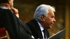 Felipe González durante una conferencia.