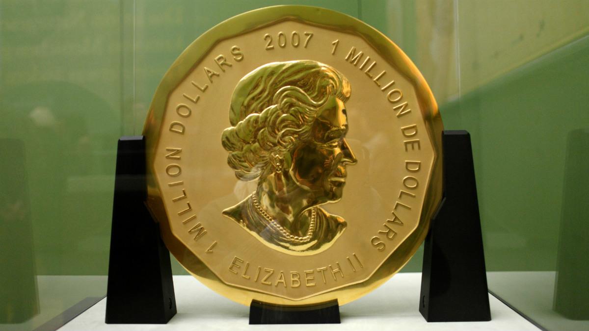 Imagen de la mayor moneda de oro del mundo robada del Bode-Museum de Berlín (Foto:AFP)