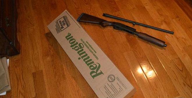 Rifle con el que la joven arrestada pretendía llevar a cabo el tiroteo (Foto: Policía del condado de Frederick)