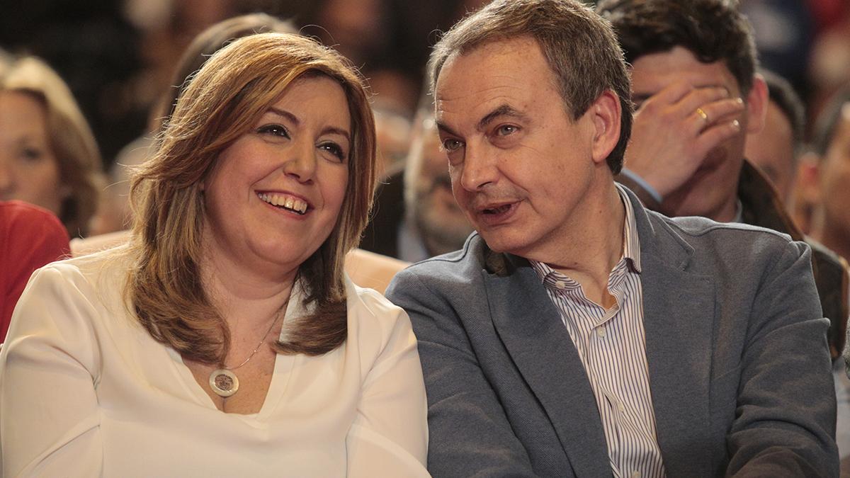 Susana Díaz y José Luis Rodríguez Zapatero (Foto: Francisco Toledo / OKDIARIO)