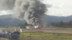 Avión accidentado en Perú (Foto: RPP)