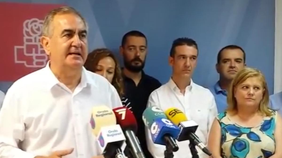 Rafael González Tovar, líder del PSOE de Murcia.