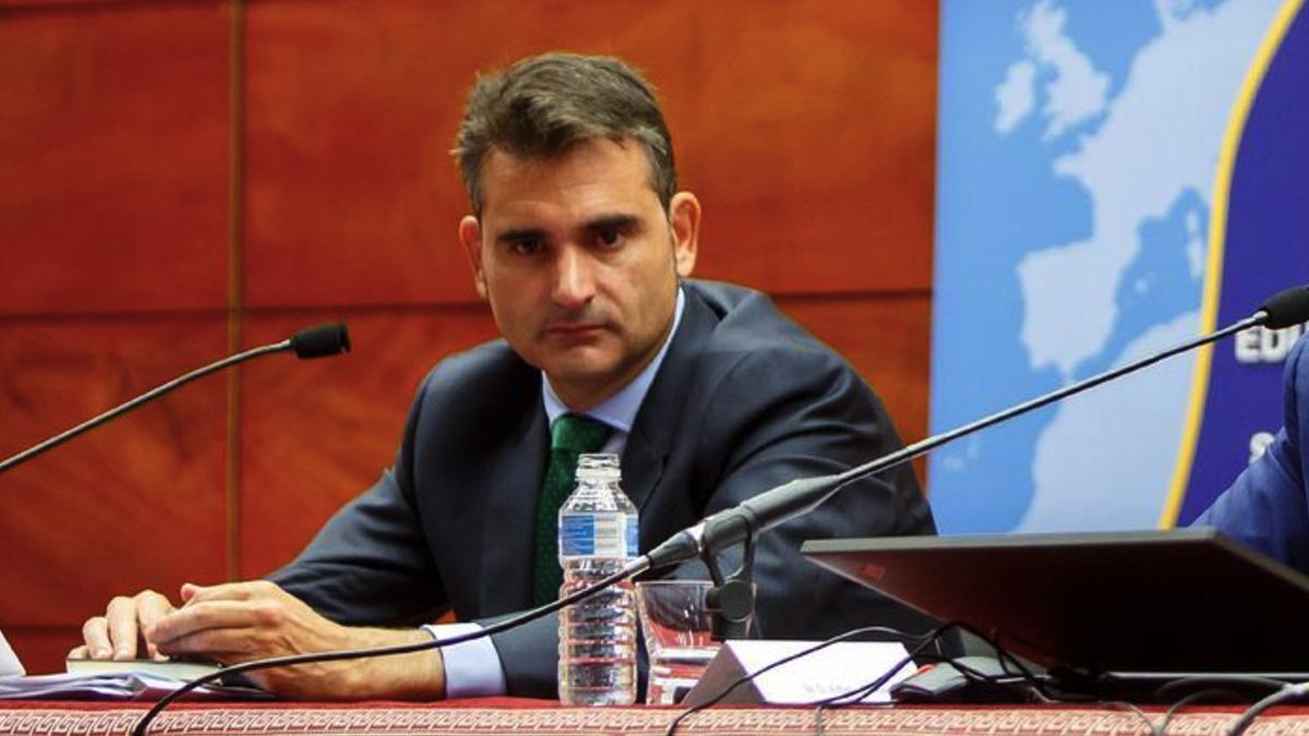 El actual director de Servicio Español para la Internacionalización de la Educación, Pablo Martín González. (Foto: UPNA)