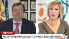 El presidente de la Junta de Extremadura, Guillermo Fernández Vara, en 'Espejo Público' (Foto: Antena 3)