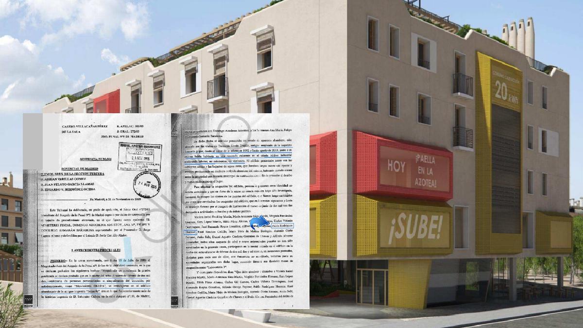 La sentencia por usurpación y el proyecto de Arte-Facto que se presentó para el distrito de San Blas. (Foto: Madrid)