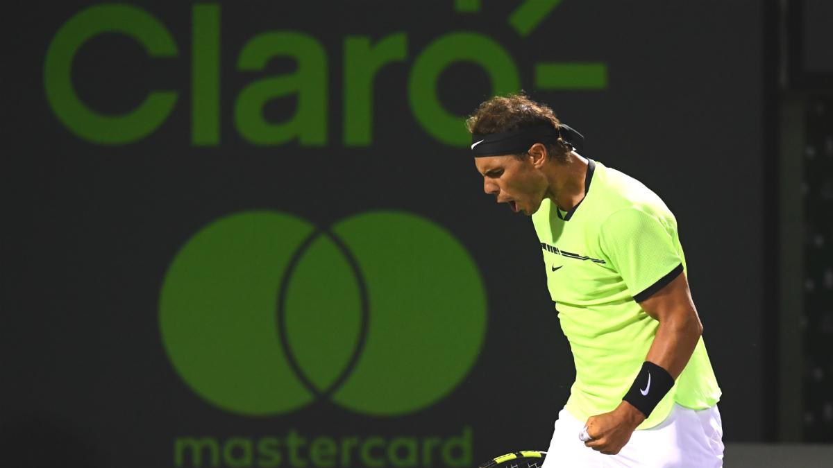 Nadal ya está en semifinales de Miami. (AFP)
