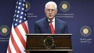 Rex Tillerson en una reciente rueda de prensa (Foto: AFP).