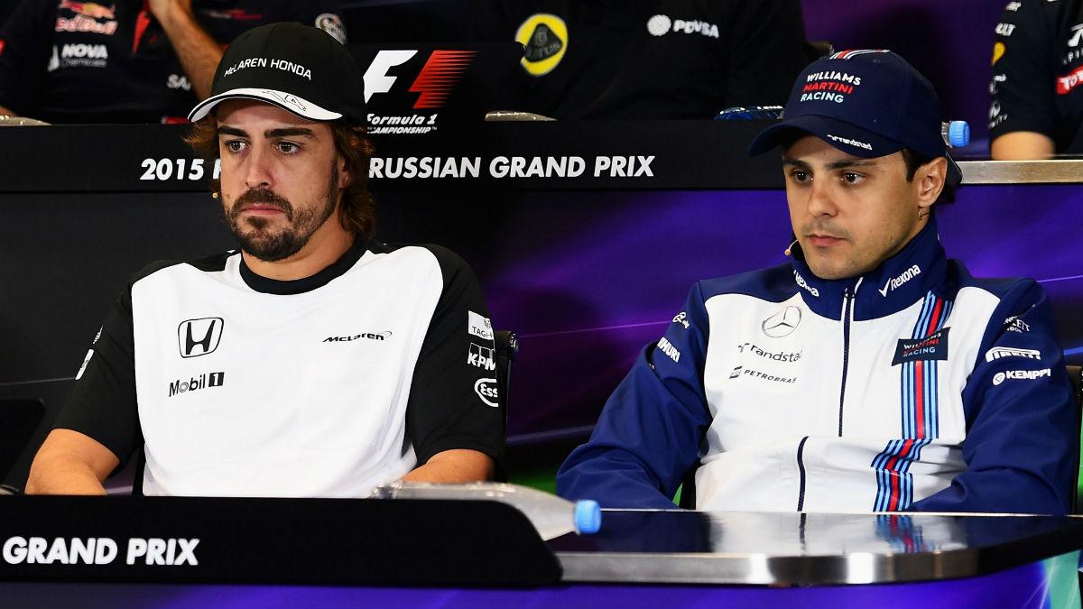 Felipe Massa no ve imposible que Fernando Alonso abandone McLaren antes de que acabe la temporada, aunque sí altamente improbable. (Getty)