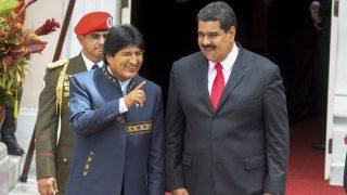 Evo Morales y Nicolás Maduro. (Foto: AFP)