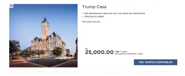 La suite Ivanka del Trump International Hotel cuesta más de 1.000$ la noche