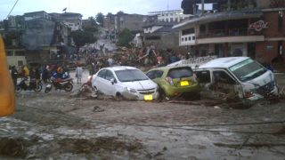 Imagen de las inundaciones en Mocoa.