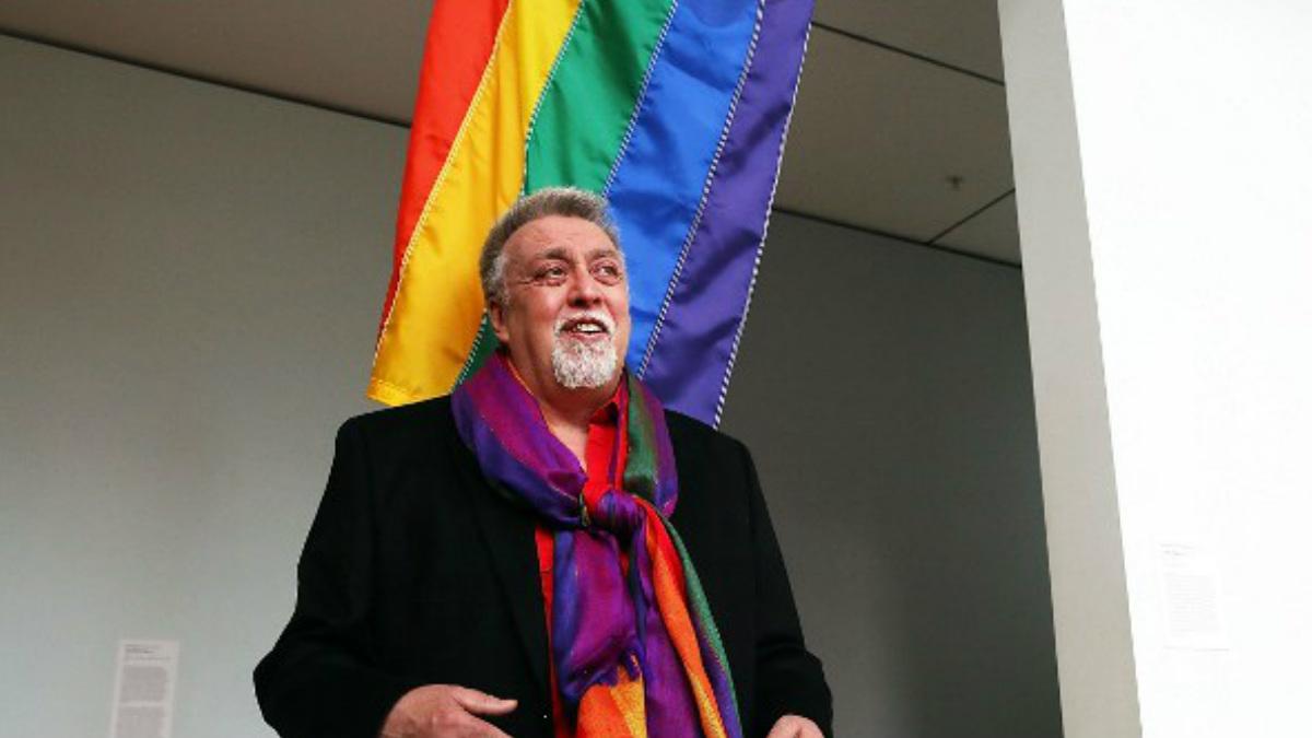 Gilbert Baker, creador de la bandera LGTB arcoíris. Foto: AFP