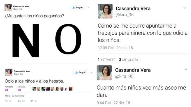Image result for cassandra vera tuits sobre niños