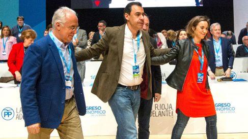 Maillo entre los dos candidatos, Ceniceros y Gamarra (Foto: Efe).