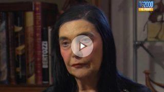 Anna María Traglia, amante de Fidel Castro, durante su entrevista en la cadena  católica Tv 2000.