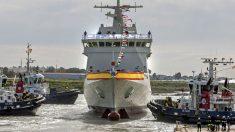 El 'Audaz', el quinto Buque de Acción Marítima (BAM) construido por Navantia construye para la Armada Española (Foto: EFE).