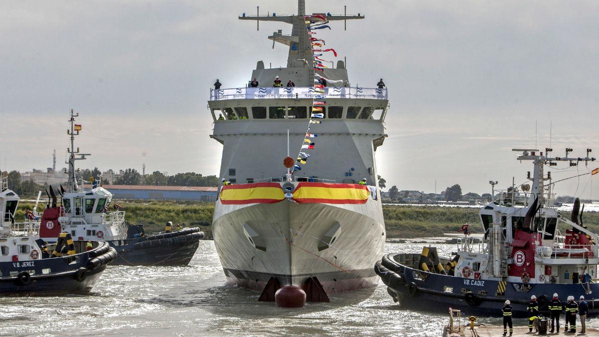 El buque  'Audaz' de la Armada.