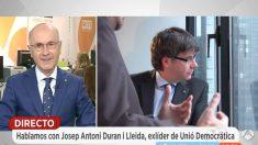 El ex líder de Unió, Josep Antoni Duran Lleida, en 'Espejo Público' (Foto: Antena 3)