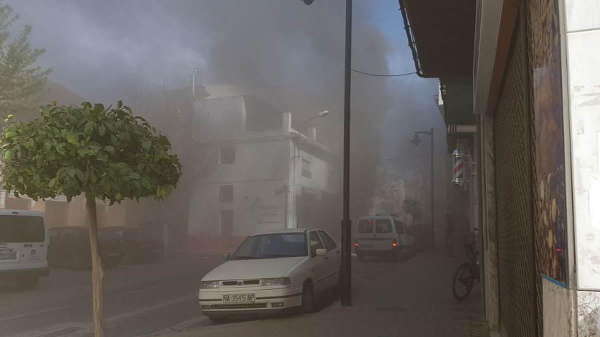 Deflagración en Granada (Foto: InfoEmergencias)