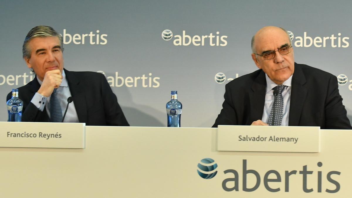 El CEO de Abertis, Fernando Reynés y su presidente, Salvador Alemany.