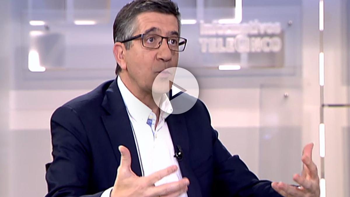 Patxi López, en el informativo de Telecinco.