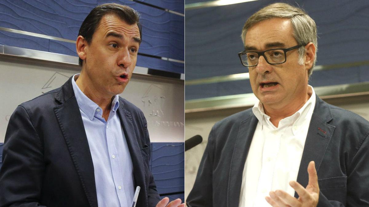 El coordinador general del PP, Fernando Martínez-Maíllo, y el secretario general de c's, José Manuel Villegas.
