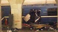 El metro de San Petersburgo tras la explosión (Foto: AFP)