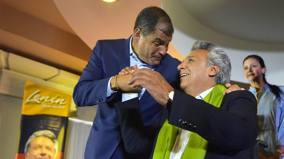 Rafael Correa y Lenín Moreno. (Foto: AFP)