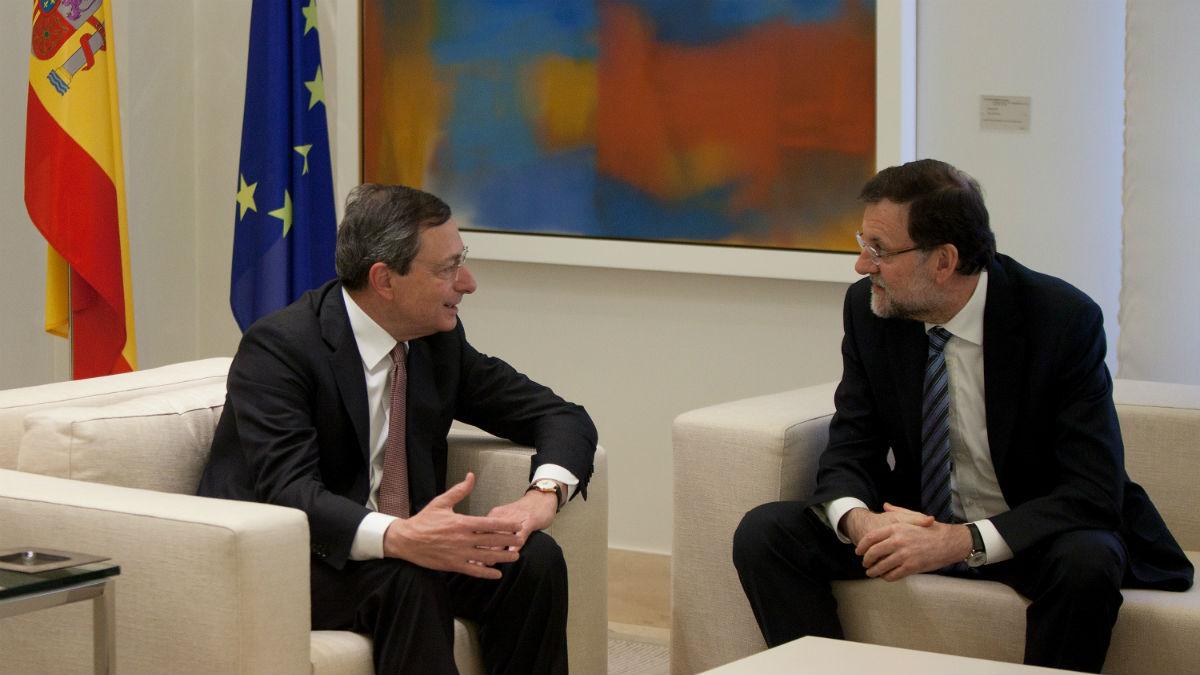 Mario Draghi y Mariano Rajoy (Foto: GETTY).