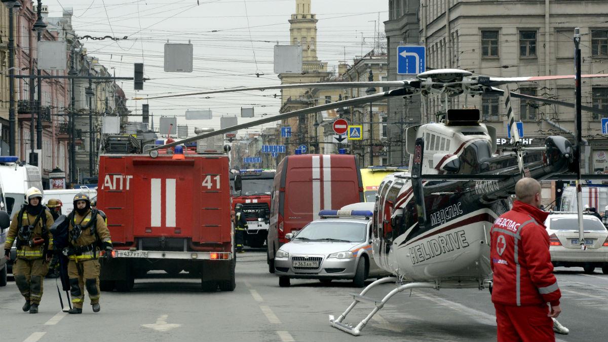 Atentado en San Petersburgo. (Foto: AFP)