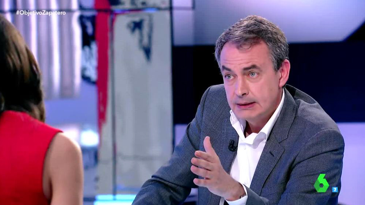 José Luis Rodríguez Zapatero en 'El Objetivo'.