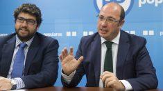 Fernando López Miras, junto a Pedro Antonio Sánchez.