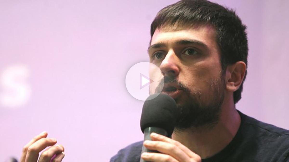 El secretario general de Podemos Comunidad de Madrid y portavoz del partido en el Senado, Ramón Espinar (Foto: Efe)