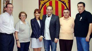 La hermana de Pep Guardiola, Francesca, en el centro.